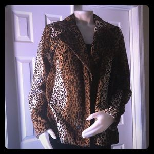Saks Fifth Avenue Leopard Blazer Jacket